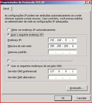 Propriedade TCP/IP