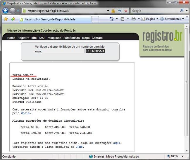 DNS do terra.com.br